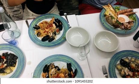 Fresh seafood in Cinque Terre, Italy.