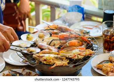 fresh seafood grilling