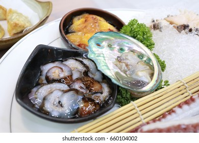 Fresh seafood, sushi