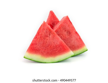 fresh seedless watermelon isolated on white