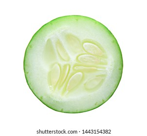 Fresh slice cucumber isolated on white background