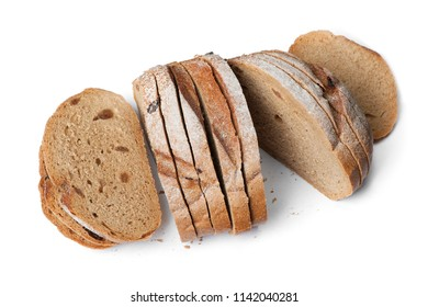 Fresh sliced bread isolated on white background