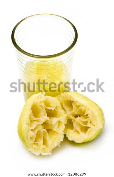 fresh sliced lemon squeezed into glass