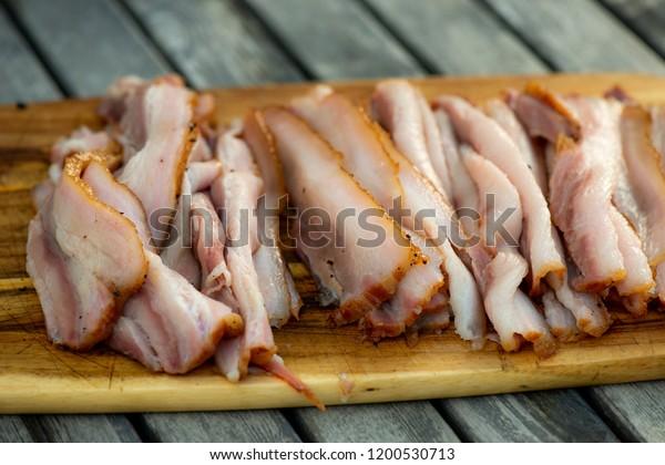 Fresh smoked bacon