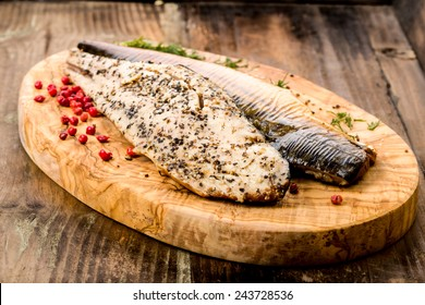Fresh smoked mackerel with peppercorns