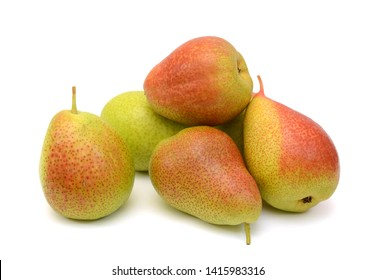 Fresh south africa forelle pears isolated on white background
