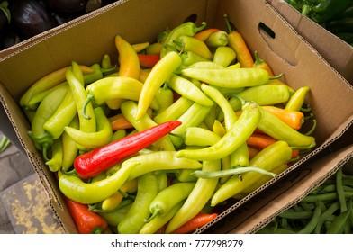 fresh and spicy ajies at rural fair