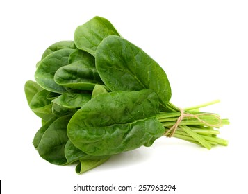 fresh spinach isolated on white