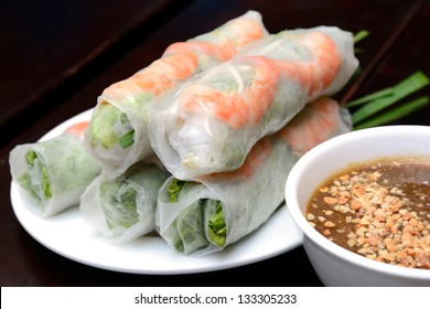 Fresh Spring Roll, Vietnamese Food.