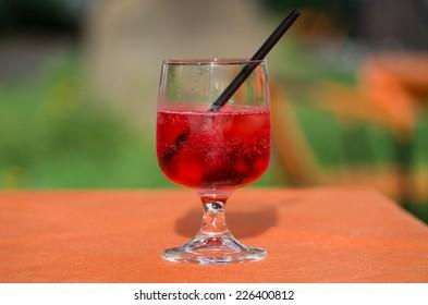 Fresh spritz cocktail with sparkling wine