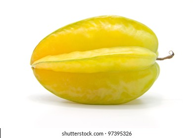fresh starfruit on white background