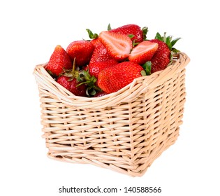 Fresh strawberries isolated on white closeup