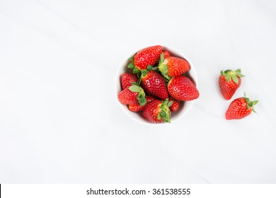 fresh Strawberry in a bowl