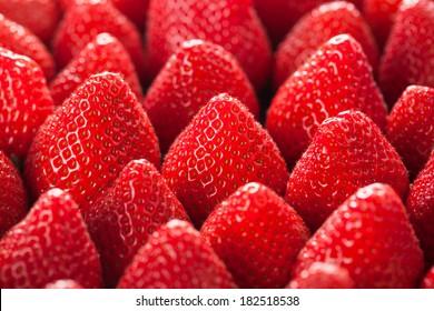 fresh strawberry close up.
