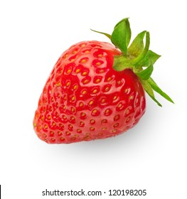 fresh strawberry isolated on white background with soft shadow