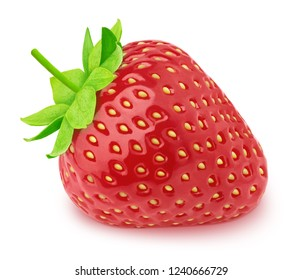 Fresh strawberry isolated on a white background.