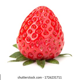 Fresh Strawberry isolated on white background closeup. Label for Strawberry Jam
