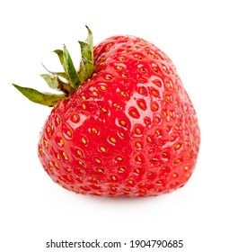 Fresh strawberry isolated on the white background. Different object or view from a different angle in the portfolio.