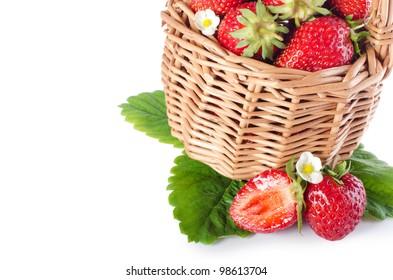 The fresh strawberry isolated on white background