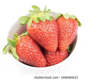 Fresh strawberry. White background. Isolated.
