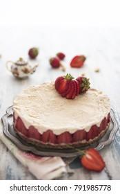 Fresh strawbery cheesecake