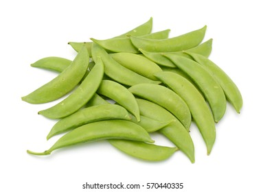 Fresh Sugar snap peas isolated white background
