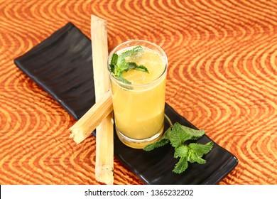 Fresh Sugarcane juice, Suger Cane Juice Indian Summer Drink