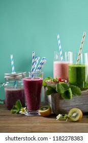 Fresh Summer smoothies set