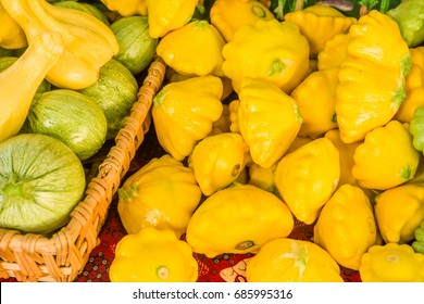 Fresh summer squash at the farmers market