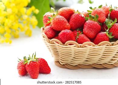 Fresh summer strawberries