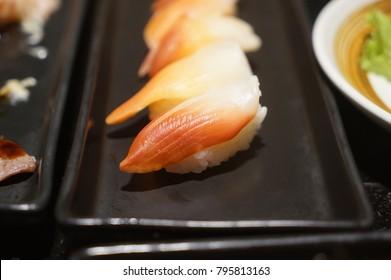 Fresh Sushi on Japanese plate