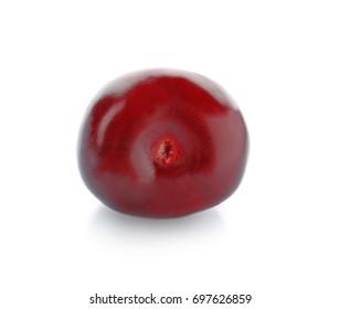Fresh sweet cherry on white background