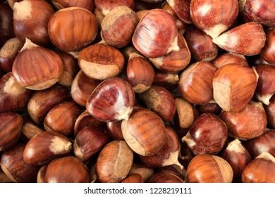 Fresh sweet chestnuts