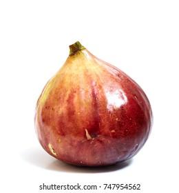Fresh sweet fig isolated on white background