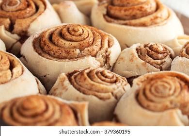 Fresh sweet homemade cinnamon rolls swedish cuisine