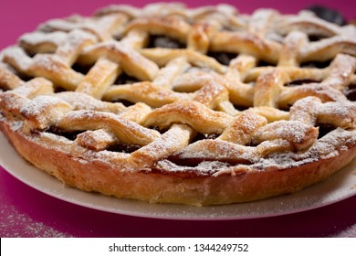 Fresh sweet pie close-up