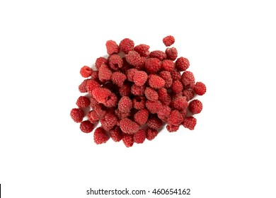 Fresh and sweet raspberry isolated on white background