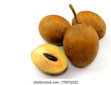 Fresh and sweet sapodilla fruit