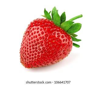 Fresh sweet strawberry isolated on white