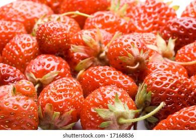 Fresh sweet strawberry on a white background