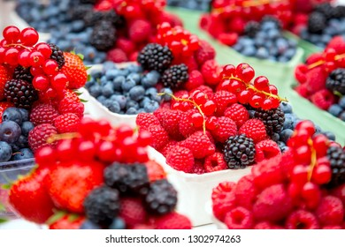 Fresh tasty berries on market place, vitamin and colorful
