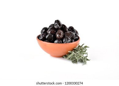 fresh tasty black olives