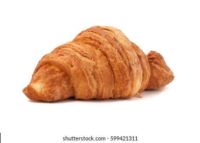 Fresh and tasty croissant isolated white background