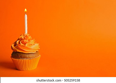 Awe Inspiring Orange Birthday Candles Images Stock Photos Vectors Shutterstock Funny Birthday Cards Online Hetedamsfinfo