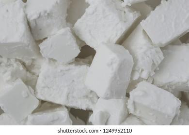 Fresh tasty Feta Cheese background