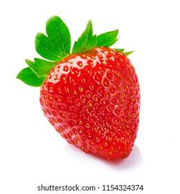 Fresh tasty ripe strawberry isolated on white background.