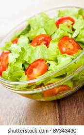 Fresh tasty salad, vegetarian food ...
