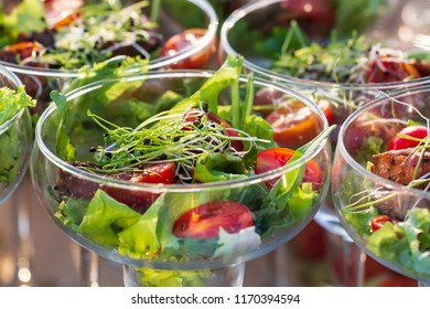 fresh and tasty vegetarian salat buffet