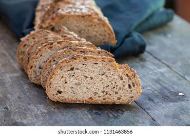 fresh and tasty whole grain bread