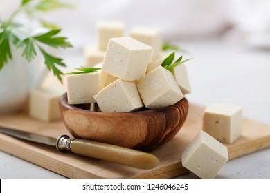 Fresh tofu cheese.